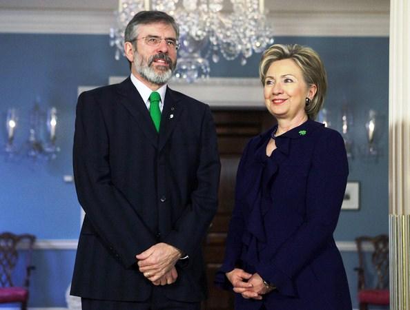 Hillary+Clinton+Meets+Sinn+Fein+Leader+Gerry+yUVYVMG3VbHl