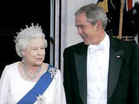 queen-george-bush