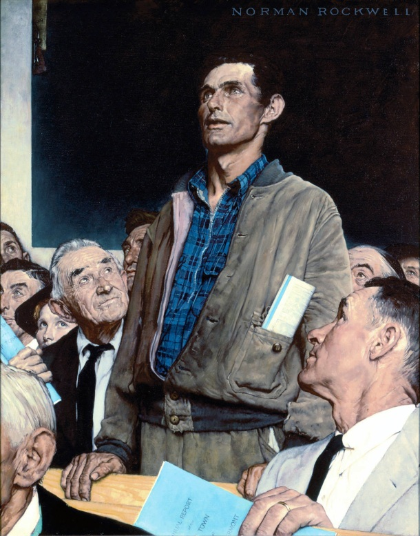 Norman-Rockwell-Freedom-of-Speech-1943